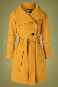 60s Rocco Smart Coat in Mustard