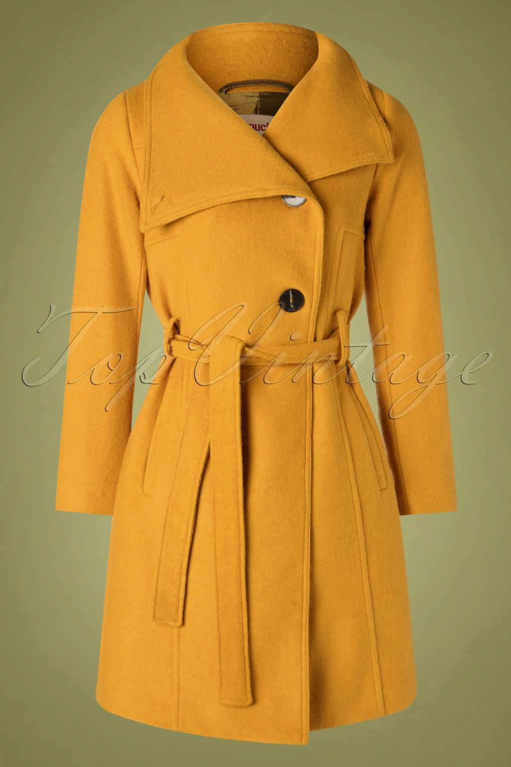 1960s Coats and Jackets 60s Rocco Smart Coat in Mustard £152.77 AT vintagedancer.com