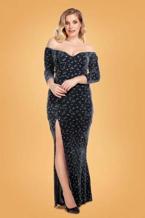 Collectif 29859 anjelica velvet maxi dress 20190415 020L