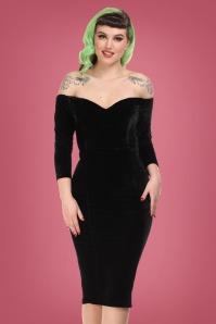 Collectif 29828 Anjelica Pencil Dress in Black 20190730 023L