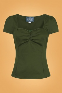 Collectif 29885 Mimi Plain Top in Green 20190430 021LW