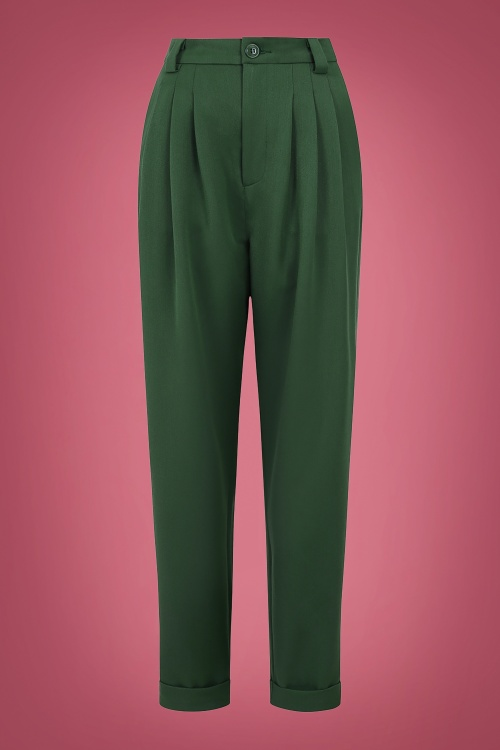 Collectif 29875 Janine Trousers in Green 20190430 021L