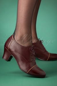 40s Felice Shoe Booties in Wine