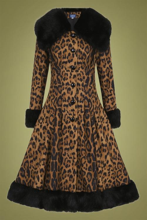 Collectif 29897 Pearl Leopard Print Coat 20190430 022LW