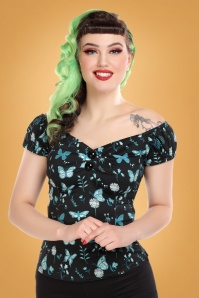 Collectif 29882 Dolores Midnight Butterfly Top 20190430 020L