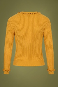 Collectif 29866 Pamela Cardigan in Mustard Yellow 20190730 021LW