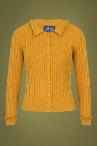 40s Pamela Cardigan in Mustard Yellow