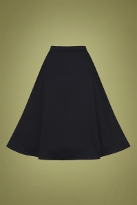 Collectif 29815 Cassie Classic Cotton Swing Skirt in Black 20190430 021LW