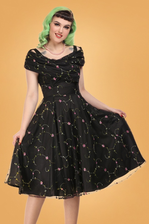 Collectif 29920 dorothy floral swing dress 20190415 020L A