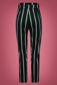 Collectif 29810 Thea Witch Stripes Trousers in Black 20190730 021L