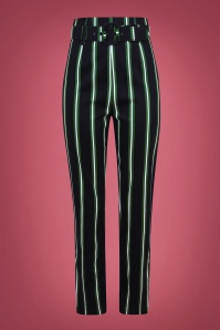 Thea Witch Stripes Trousers Années 50 en Noir