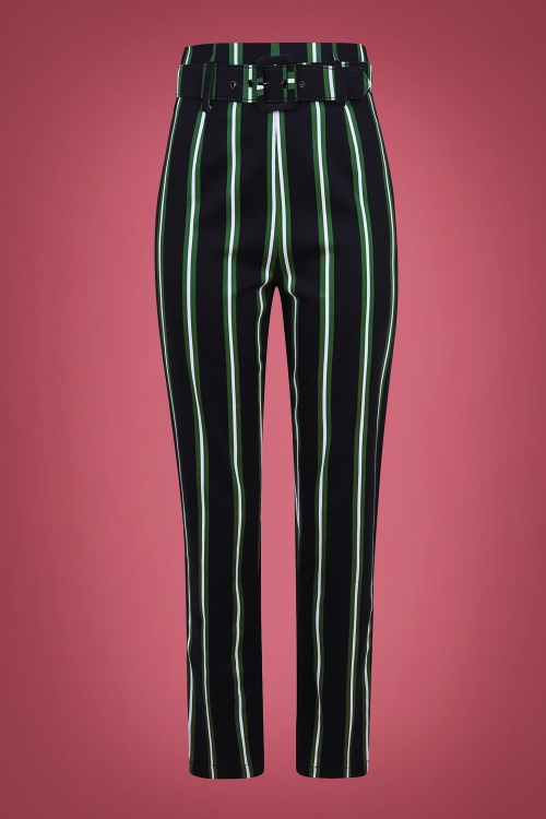 Collectif 29810 Thea Witch Stripes Trousers in Black 20190730 020L