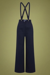 40s Glinda Trousers in Navy
