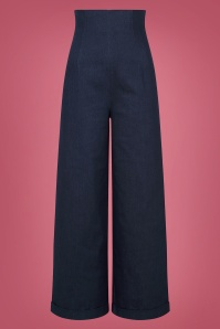 50s Kiki High Waisted Jeans in Navy
