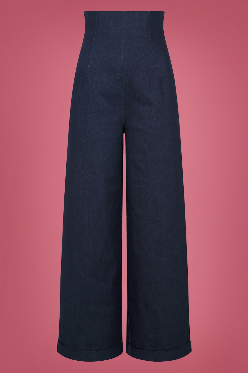 Vintage High Waisted Trousers, Sailor Pants, Jeans 50s Kiki High Waisted Jeans in Navy £48.84 AT vintagedancer.com