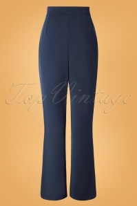 Vintage Chic 31156 Crepe Blue Trousers 20190802 007 W