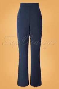 Vintage Chic 31156 Crepe Blue Trousers 20190802 007 W