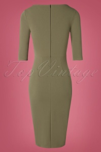 Vintage Chic 31160 Khaki Green Pencil Dress 20190802 005 W