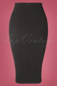 Vintage Chic 31185 Black Pencil Skirt 20190802 008 W
