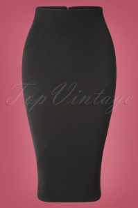 50s Alvina Pencil Skirt in Black