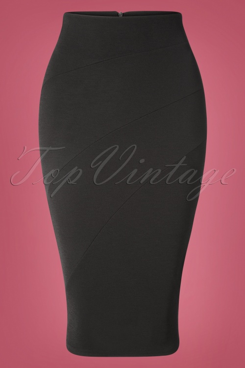 Vintage Chic 31185 Black Pencil Skirt 20190802 004 W