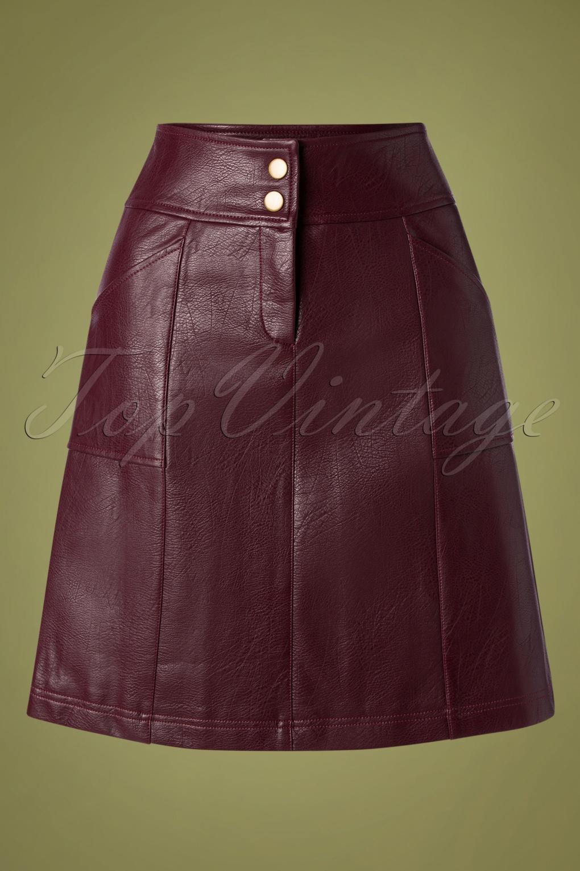 60s Skirts | 70s Hippie Skirts, Jumper Dresses 60s Bracha Skirt in Winetasting £83.49 AT vintagedancer.com