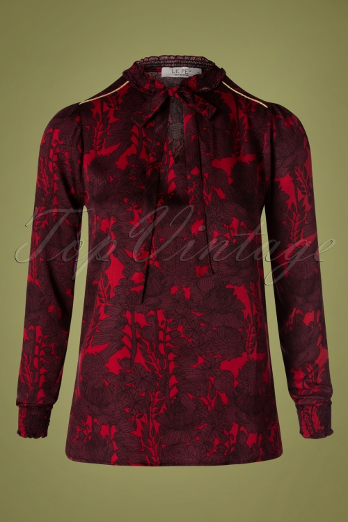 Le Pep 30023 Barbie Blouse in Red   20190801 007W