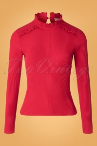 LE PEP 60s Betty Top in Chilipepper