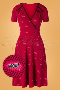 60s Superheldinnen Power Dress in Super Cat Red