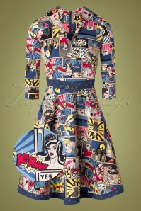 60s Wonder Woman Dress in Super Comic Multi