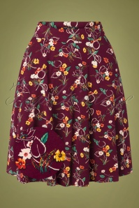 60s Serena Kansas Skirt in Windsor Red
