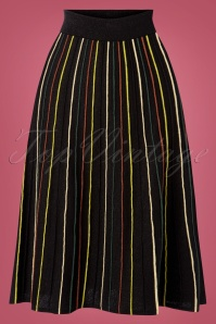 King Louie 29453 Stripe Skirt Glitters Strip Black20190620 003 W