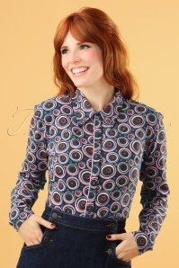 60s Same Psychology Blouse in Purple
