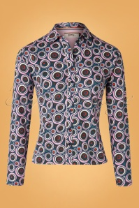 4FunkyFlavours 29091 60s Same Psychedelic Blouse 20190802 002W