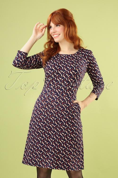 King Louie 29442 Mona Dress Swirl Blue20190708 040MW