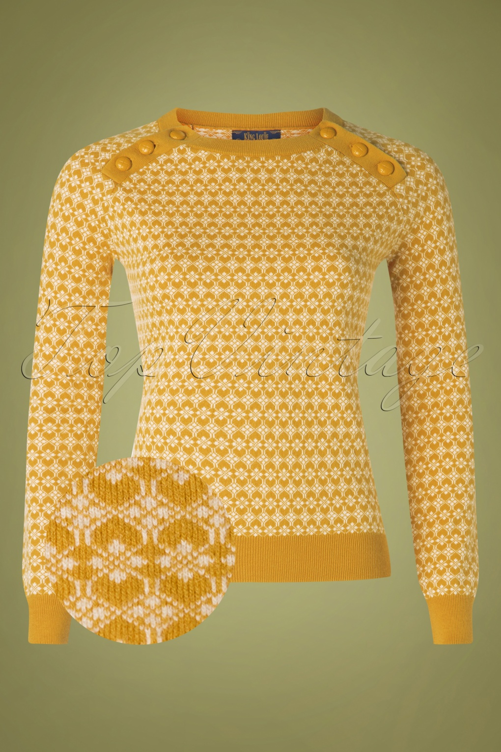 60s 70s Style Sweaters, Cardigans & Jumpers 60s Langlauf Kashmir Button Jumper in Sunset Yellow £83.49 AT vintagedancer.com