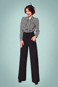 40s Charline Trousers in Black