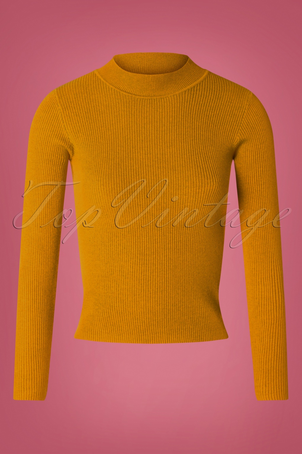 60s 70s Style Sweaters, Cardigans & Jumpers 60s Jessica Turtleneck Jumper in Mustard £37.08 AT vintagedancer.com