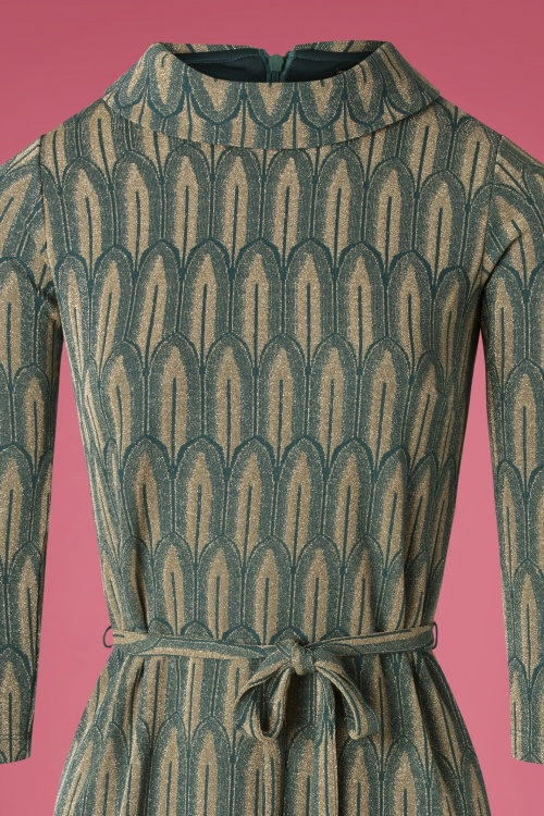 Dress Dita Louie In Dragonfly King Lexington 70s Green f6gIYvym7b