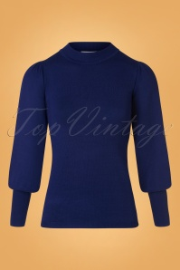 60s Gillian Jumper in Cobalt Blue