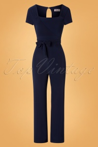 50s Renae Jumpsuit in Navy