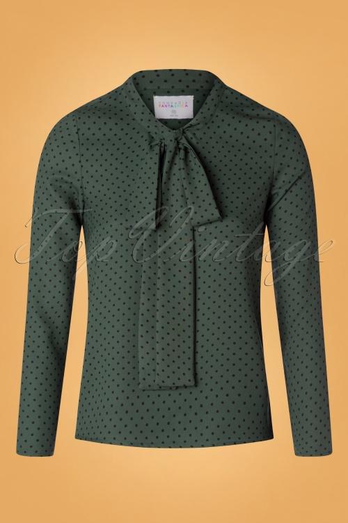 Compania Fantastica 29713 Blouse Green20190805 006W