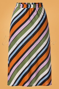 Compania Fantastica 29712 Falda Skirt Striped Orange Green Pink Blue 20190805 002W