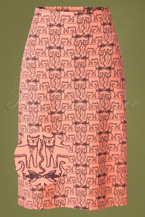Compania Fantastica 29711 Falda Skirt Cats Orange 20190805 002 vergrootglaasje