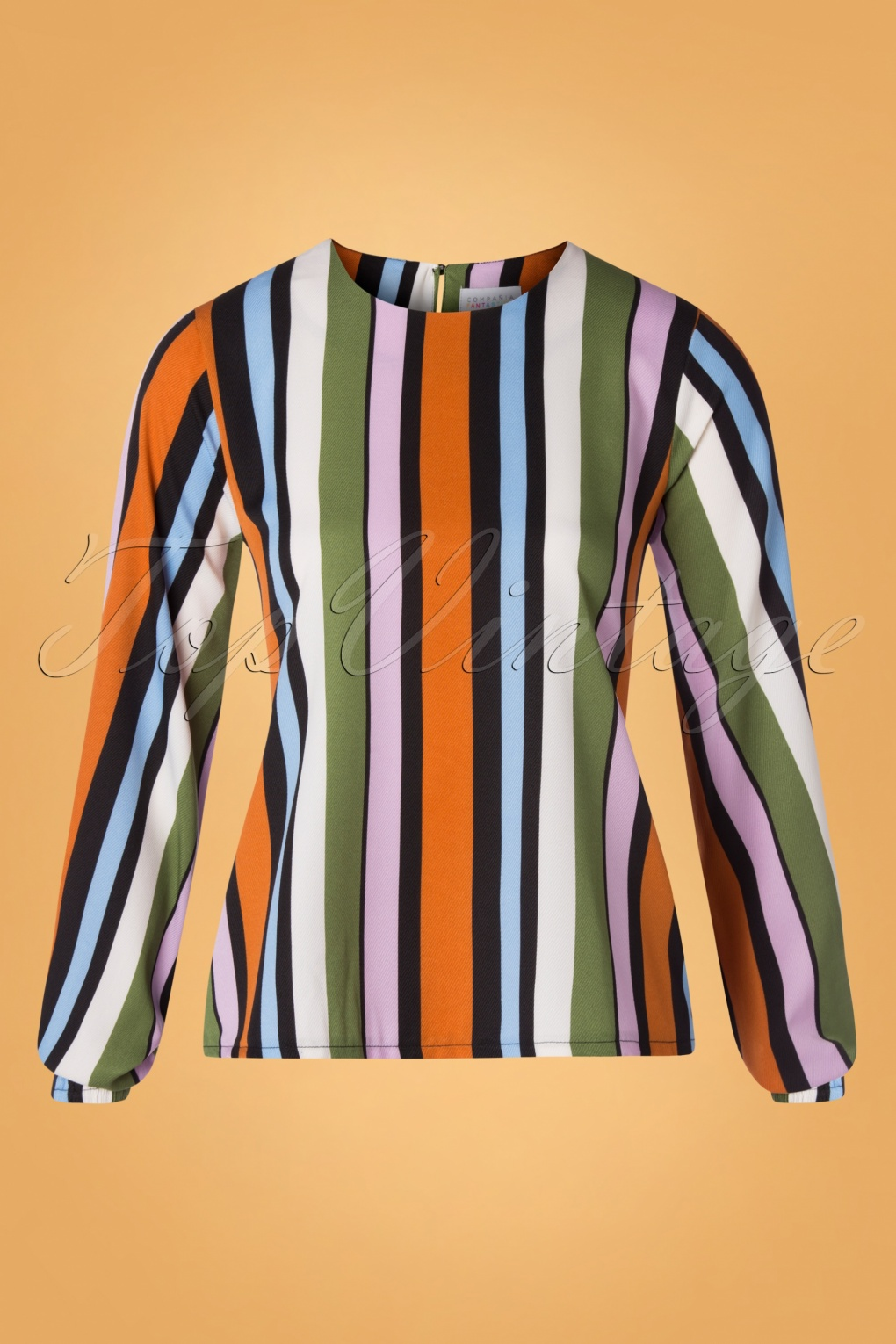 Women's 70s Shirts, Blouses, Hippie Tops 70s Staci Stripes Blouse in Multi £32.34 AT vintagedancer.com