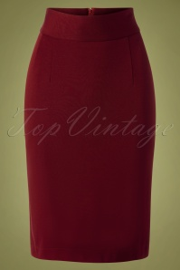 Very Cherry 29984 50s Classic Pencil Skirt Red 20190605 008W