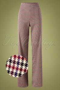Marlene Pants Années 40 en Tweed Chester