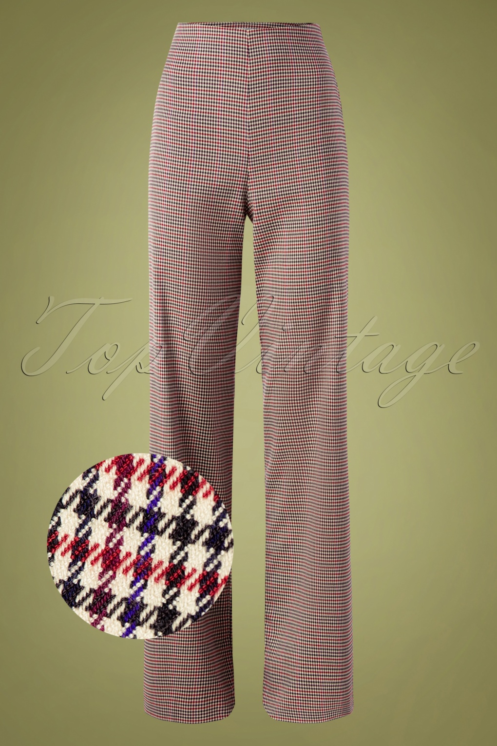 1940s Swing Pants & Sailor Trousers- Wide Leg, High Waist 40s Marlene Pants in Chester Tweed £90.50 AT vintagedancer.com