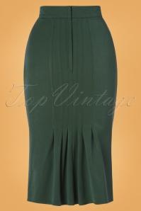 Miss Candyfloss 31020 Pencilskirt Emerald Mostard 07112019 000007W