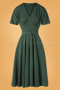 Miss Candyfloss 31006 Swingdress Emerald 07102019 000005W